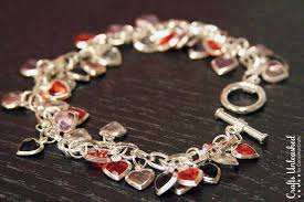 heart bracelet charms images Diy heart bracelet valentine 39 s day crafts unleashed jpg