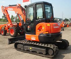 brand new 2014 kubota u55 5 5 tonne a c closed cab excavator with
