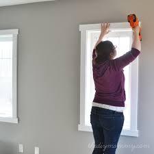 Interior Door Trim Molding For 8 Foot Ceilings Diy Simple Craftsman Shaker Window U0026 Door Trim By The Diy Mommy