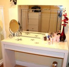 Glass Vanity Table With Mirror Desk 49 Gallery Of Makeup Vanities Made Out Of The Ikea Malm