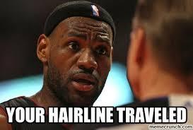 Lebron Hairline Meme - hairline