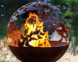 Sphere Fire Pit by Forest Fire Tree Fire Pit Functional Art For Your Backyard