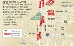 Miami Beach Zoning Map by Mega Mall Could Bring 100 000 Daily Trips To Northwest Miami Dade