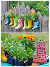 weekend diy project u2013 welly boot plant pots