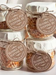 simple gift popcorn in a jar popcorn favors popcorn and favors