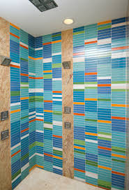 Tile Shower Ideas by Stylish Colorful Bathroom Wall Design With Gorgeous Modern Tile