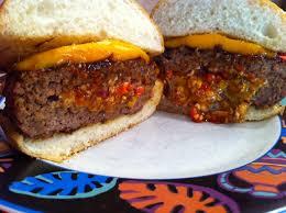 backyard grill stuffed burger press chipotle stuffed bronto burger club foody