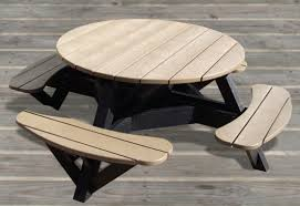 round plastic picnic table t50 t51 round picnic table waste wise products