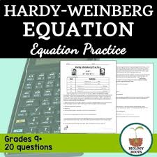 hardy weinberg practice problems by biology roots tpt
