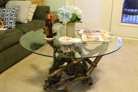 extraordinary driftwood coffee table glass 6770