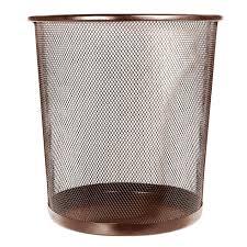 mesh wastebasket brown at home at home
