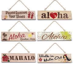 Hawaiian Decor For Home Hawaiian Wall Door Signs Aloha Home Decor