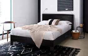 leather bed frame queen frame decorations