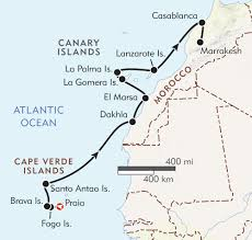 Morocco Africa Map by Sea To Sahara Cape Verde Canary Islands U0026 Morocco Itinerary