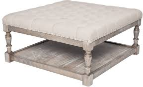 Lower Coffee Table by Beige Linen Storage Tufted Ottoman Seat Coffee Table Furniture