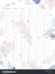 yearly planner calendar vertical months on stock vector 443104783