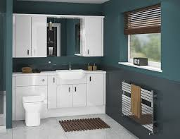 Try A Classic Look With Atlantas White Gloss Bathroom Furniture - Bathroom cabinets in white gloss