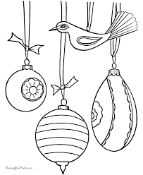 christmas decorations coloring page free download