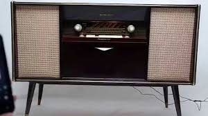 Antique Record Player Cabinet Vintage Mid Century Modern Emud German Stereo Console Bluetooth Am