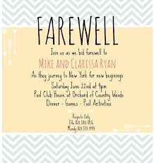 brilliant going away invitation as prepossessing ideas free