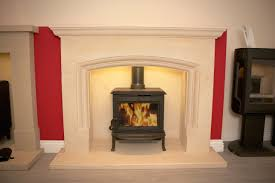 calm white limestone fireplace ideas with handsome small gas