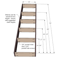 Bookshelf Wooden Plans by Ana White Inset Bookshelf Doorway Diy Projects