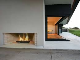 modern architectural design small outdoor fireplace designs
