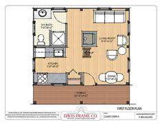 small cabin with loft floor plans floor plan of a frame cabin house plan 91725 a frame cabin