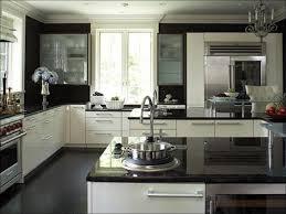 kitchen amazing white appliances with dark cabinets gray