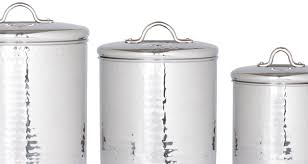 set of 4 hammered metal large kitchen canisters u2013 mark and estel