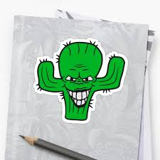 halloween face stickers evil vile monster horror halloween demon cactus cartoon comic