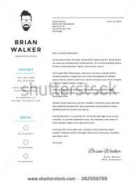 creative minimalistic personal vector cover letter stock vector