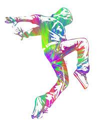 Dance Wall Murals Wall Hip Hop Tie Dye Gangsta Thug Mural Art Decal Sticker Break