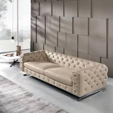 Corner Chesterfield Sofa by Chesterfield Sofa Leather 3 Seater Beige Ingrid Maxdivani