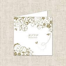 butterfly swirls rsvp cards wedding stationery