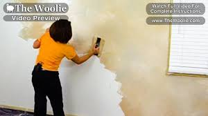 quick color meshing faux painting wall technique by the woolie
