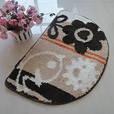 Semi Circle Rugs Living Art Hearth Half Moon Semicircle Bedroom Carpet Door Mat