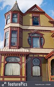 historical architecture victorian house exterior stock photo