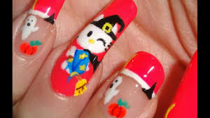 hello kitty halloween nail art images about hello kitty themed