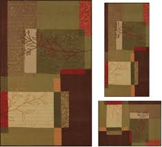 Modern Floral Rugs 3 Area Rug Set Transitional Modern Floral