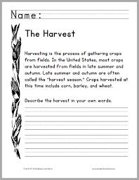 harvest season primary worksheet free to print pdf primary
