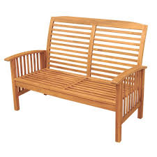 Outdoor Patio Loveseat Amazon Com Walker Edison Furniture Company Solid Acacia Wood