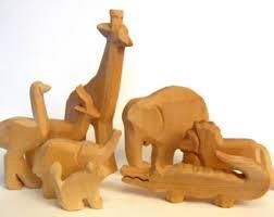 wooden zoo animals etsy