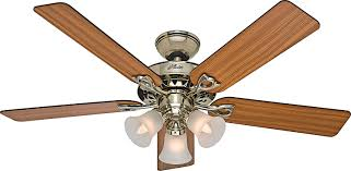 Hunter Ceiling Fan Replacement Blades by Hunter 53115 The Sontera 52 Inch Antique Brass Ceiling Fan With