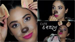 cute u0026 easy halloween makeup look snapchat dog youtube