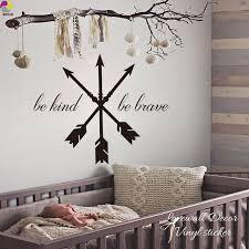 stickers phrase chambre flèches wall sticker enfants chambre bébé pépinière être genre être