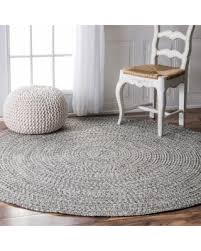Indoor Outdoor Round Rugs Bargains On Nuloom Handmade Casual Solid Braided Round Indoor