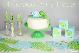 Tropical Party Themes - diy tropical party decorations paper ferns and leaves darice