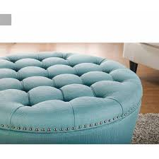 furniture large leather ottoman blue storage ottoman fur ottoman