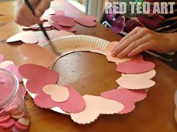 28 valentine decorations to make at home 18 valentine s day valentine decorations to make at home valentine s decoration heart wreath red ted art s blog
